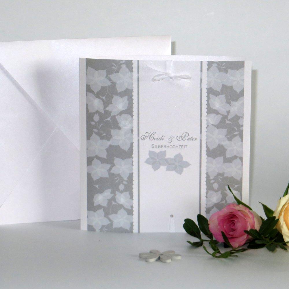 Blütentraum taupe Silberhochzeit