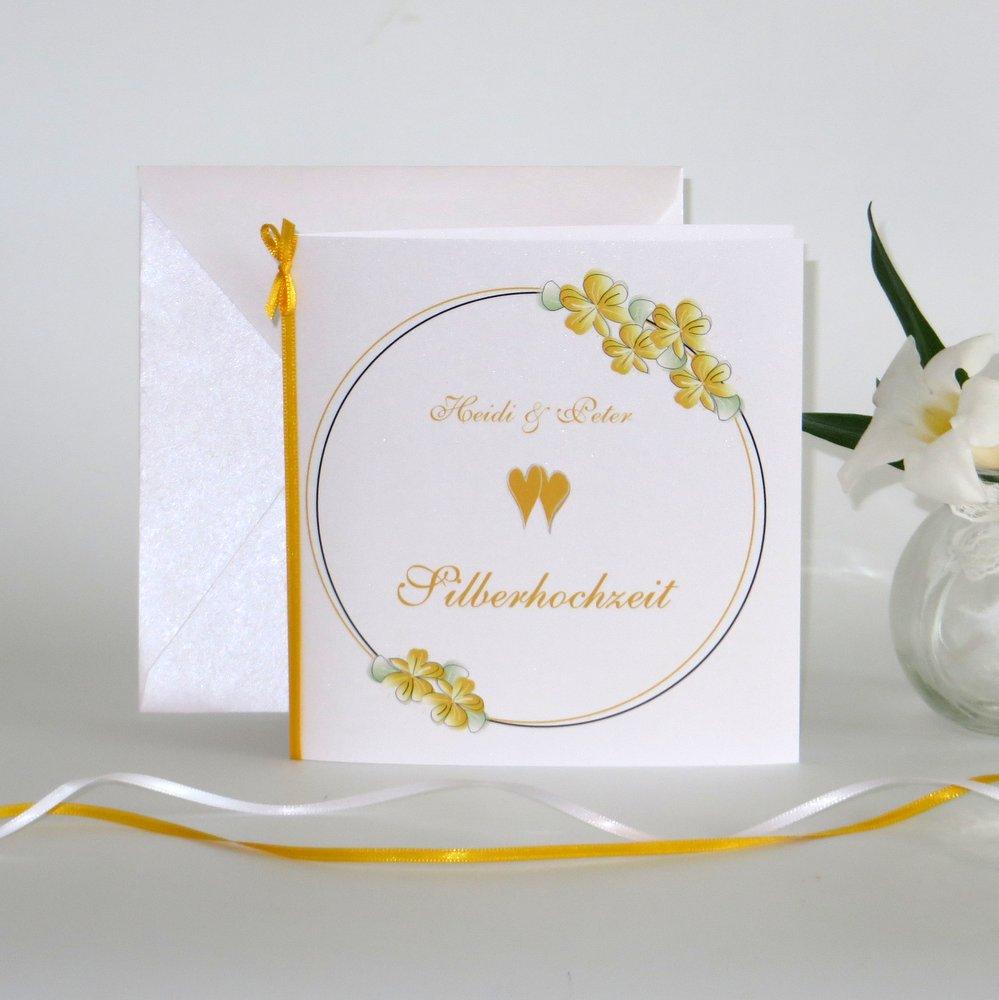 Blumenkranz gelb Silberhochzeit
