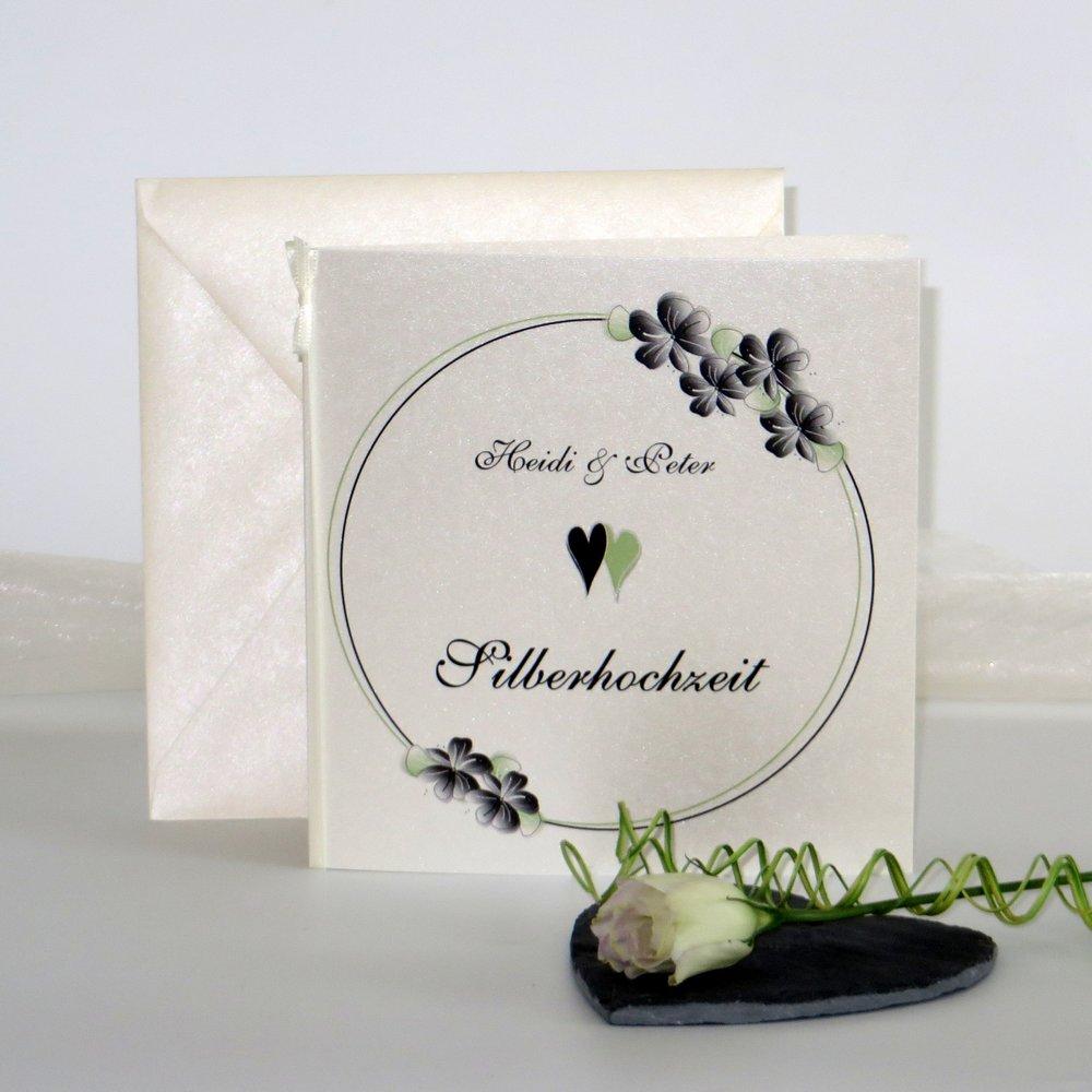 Blumenkranz schwarz Silberhochzeit