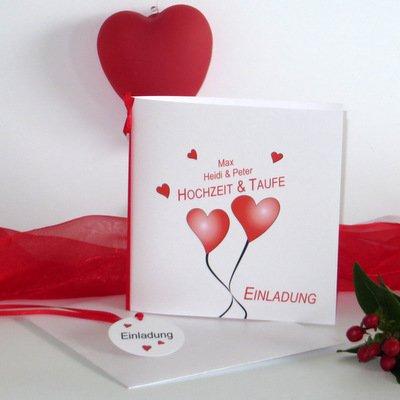 Herzballons rot Traufe