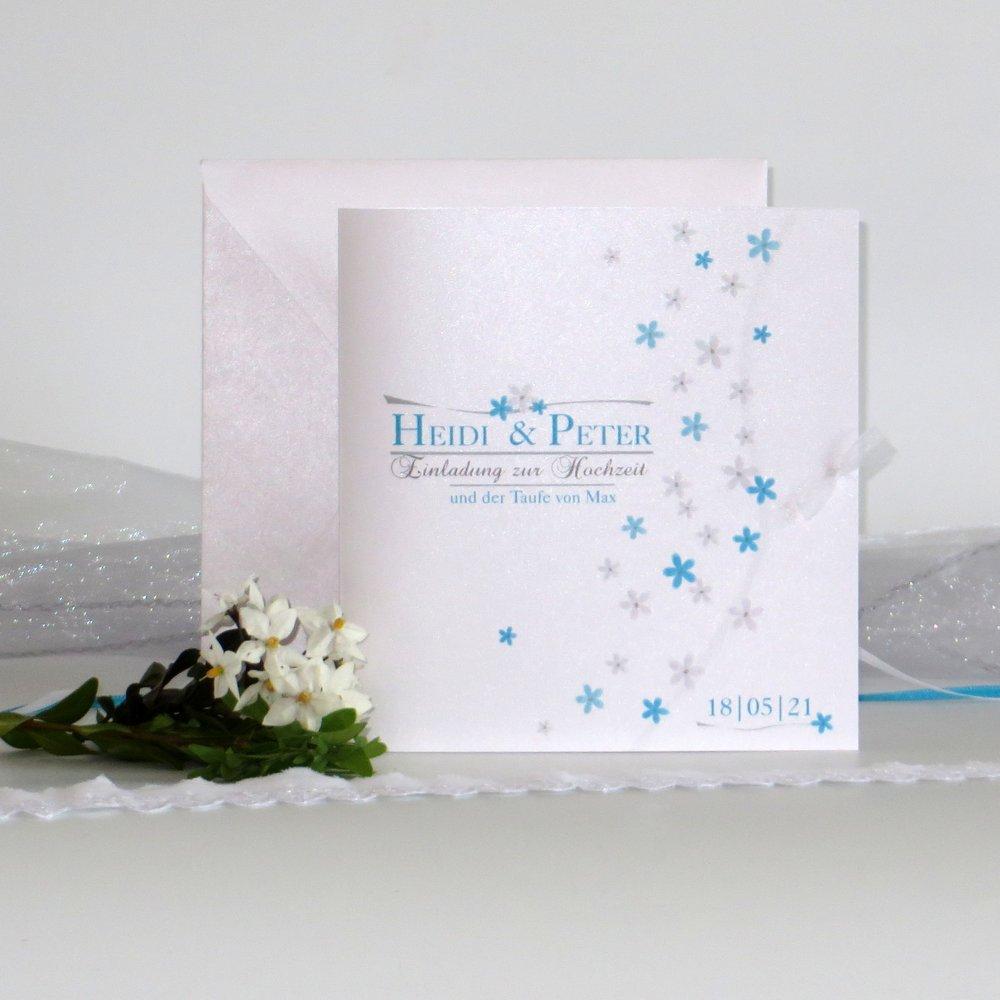 Blumenmeer türkis Traufe