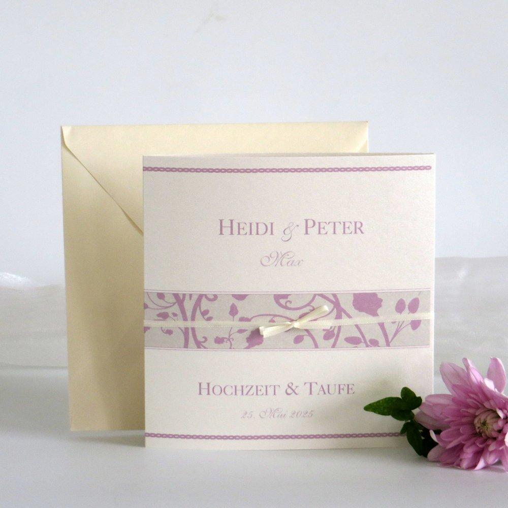 Florales Design rosa Traufe