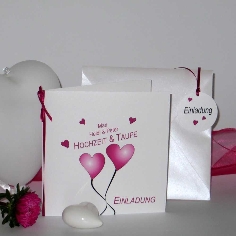 Herzballons pink Traufe