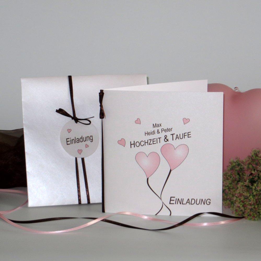 Herzballons rosa Traufe