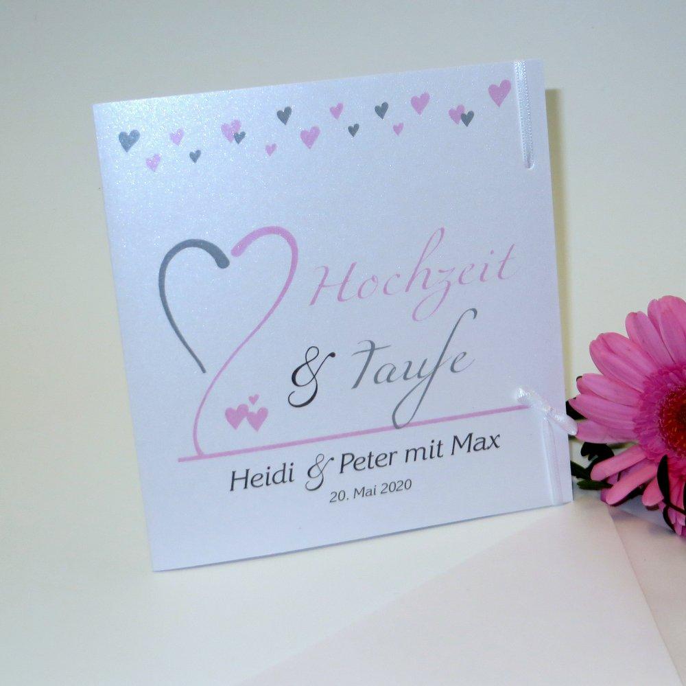 Herzblume rosa - Traufe