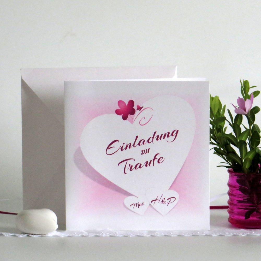 Herzkarte pink Traufe