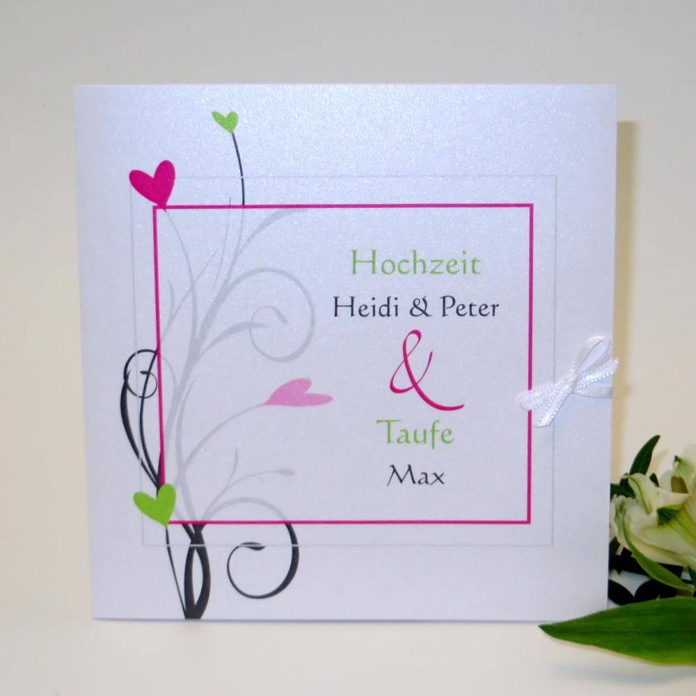 Herzzauber grün & pink Traufe