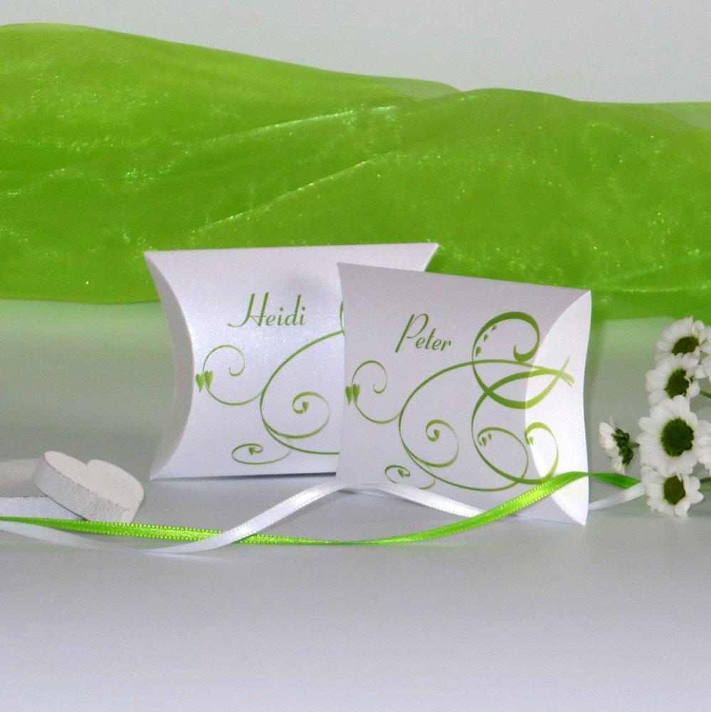 Farbflirt grün und weiß