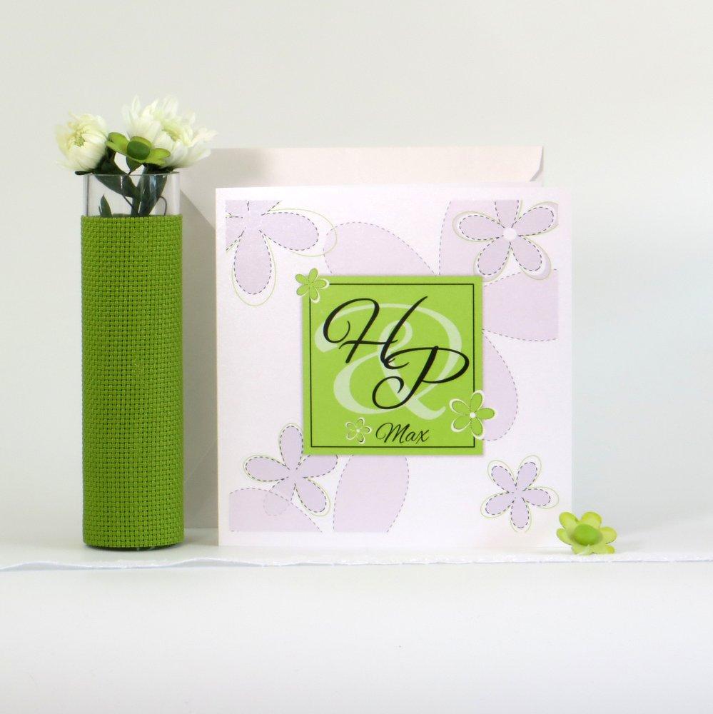 Blumen grün & weiß