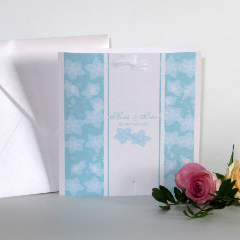 Blütentraum türkis Silberhochzeit