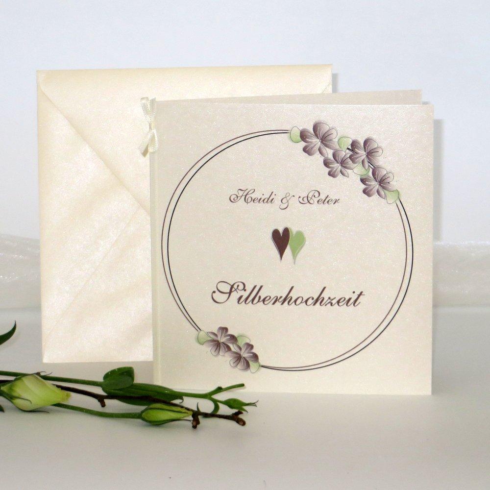 Blumenkranz braun Silberhochzeit