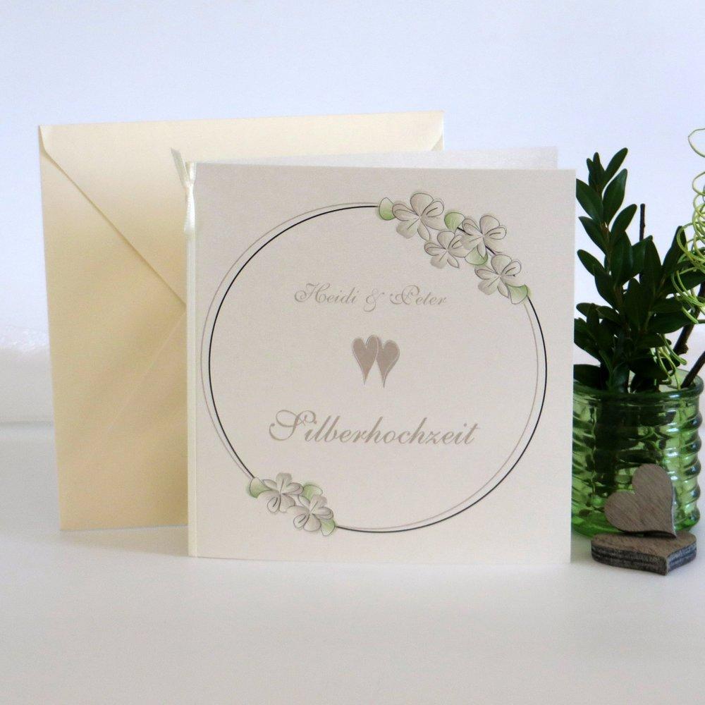 Blumenkranz taupe Silberhochzeit
