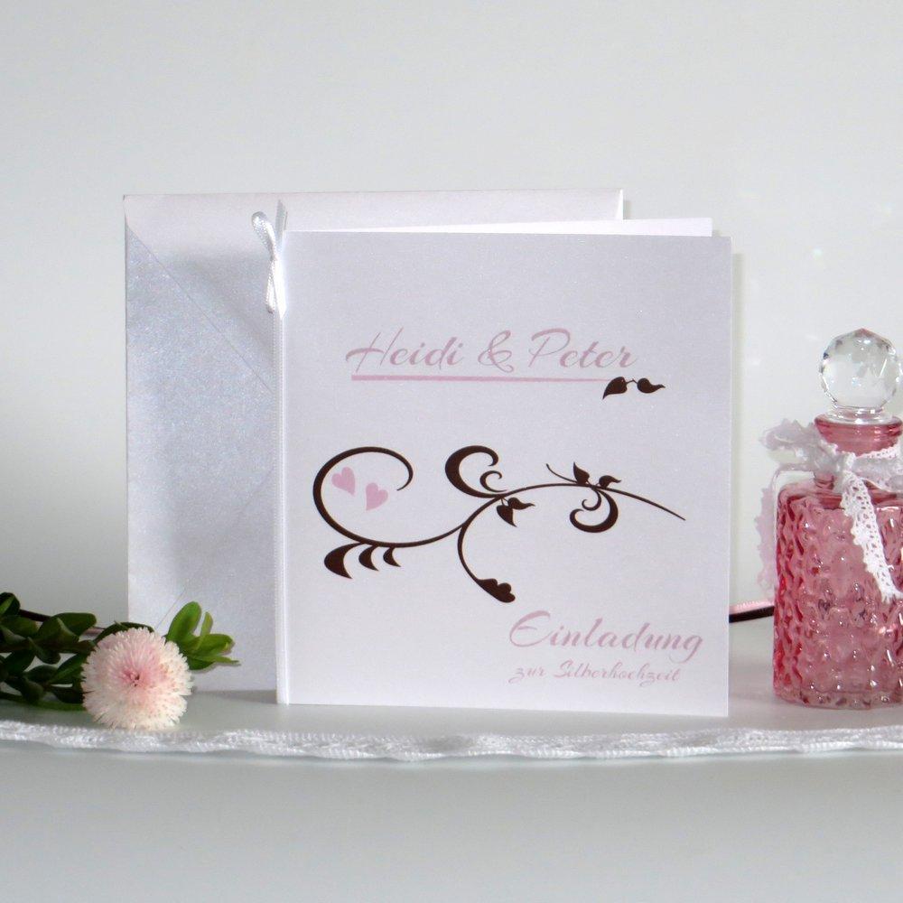 Event rosa & braun Silberhochzeit