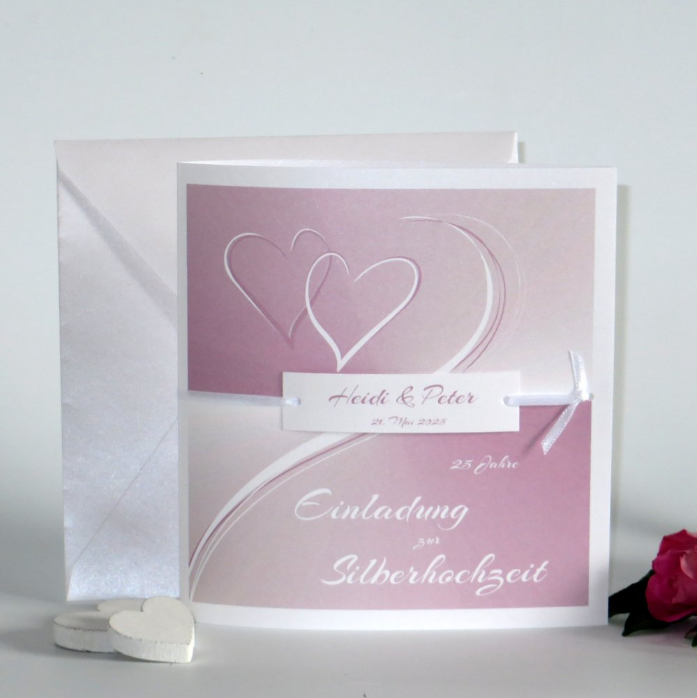 Farbharmonie rosa Silberhochzeit