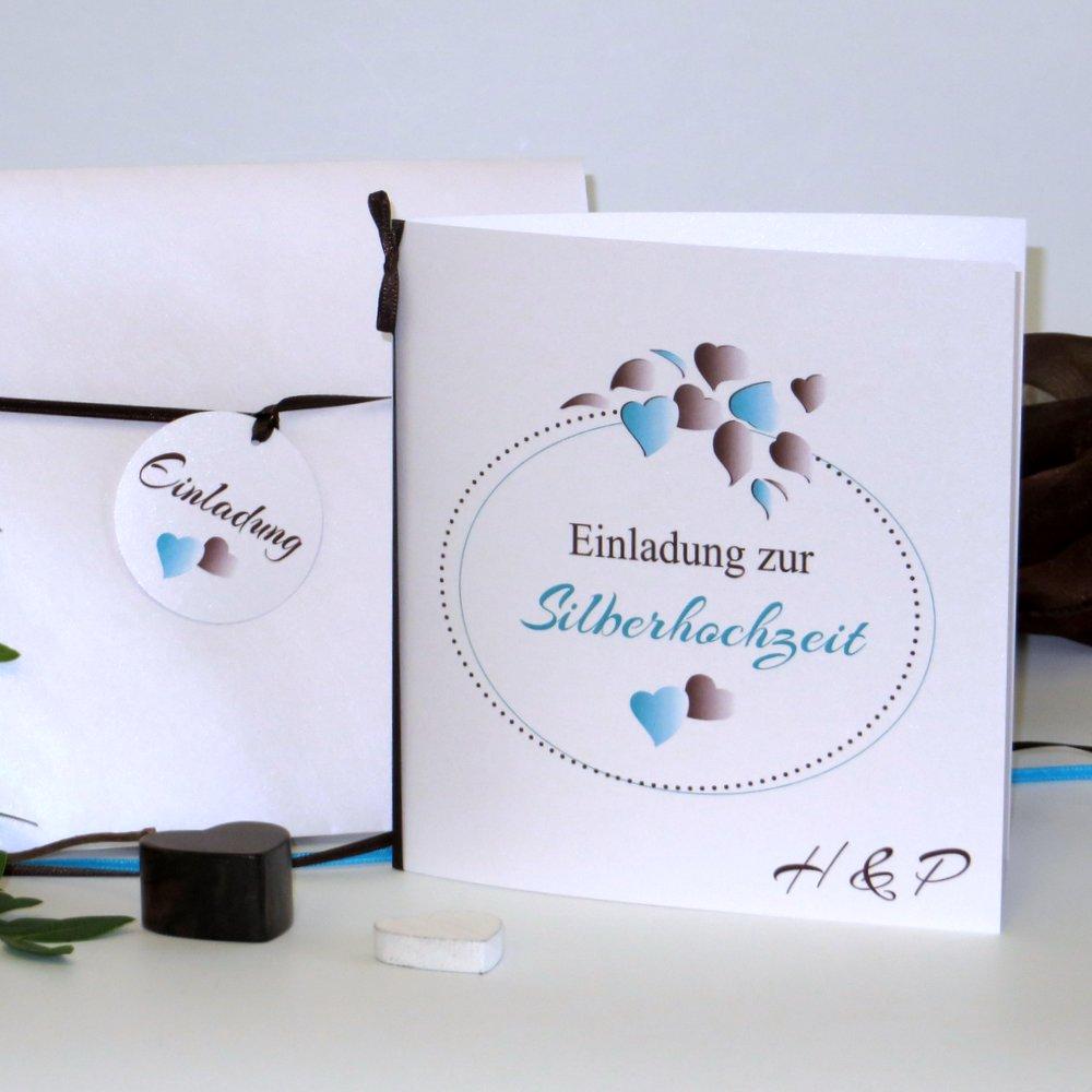 Herzblatt türkis Silberhochzeit