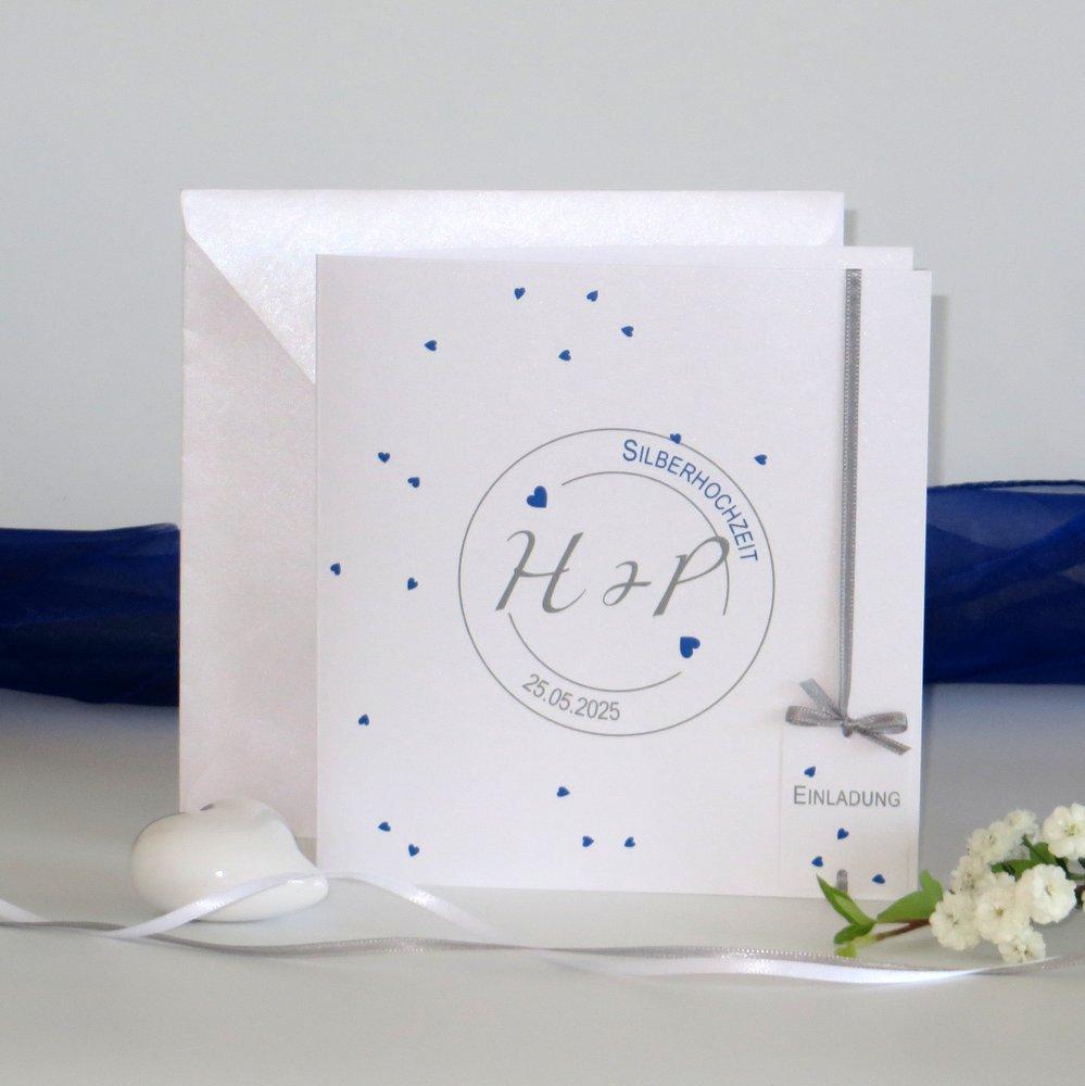 Konfetti blau Silberhochzeit