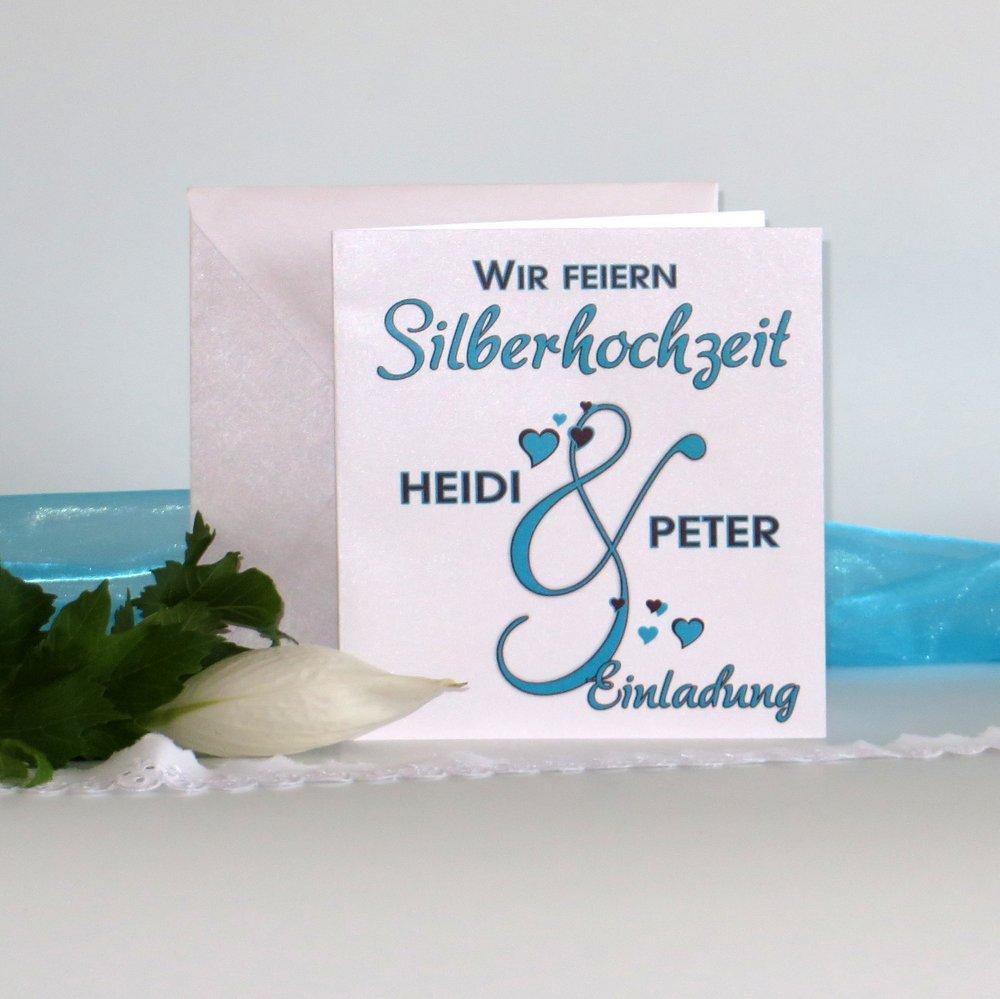 Melodie türkis Silberhochzeit