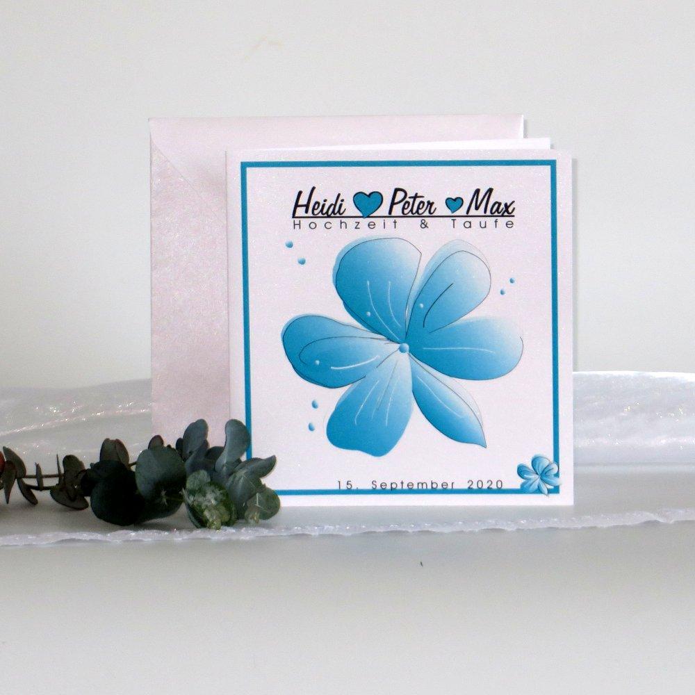 Blütenzauber türkis & weiß Traufe