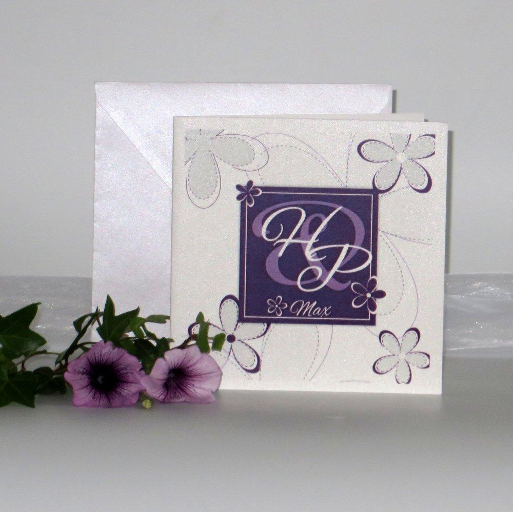 Blumen lila & weiß