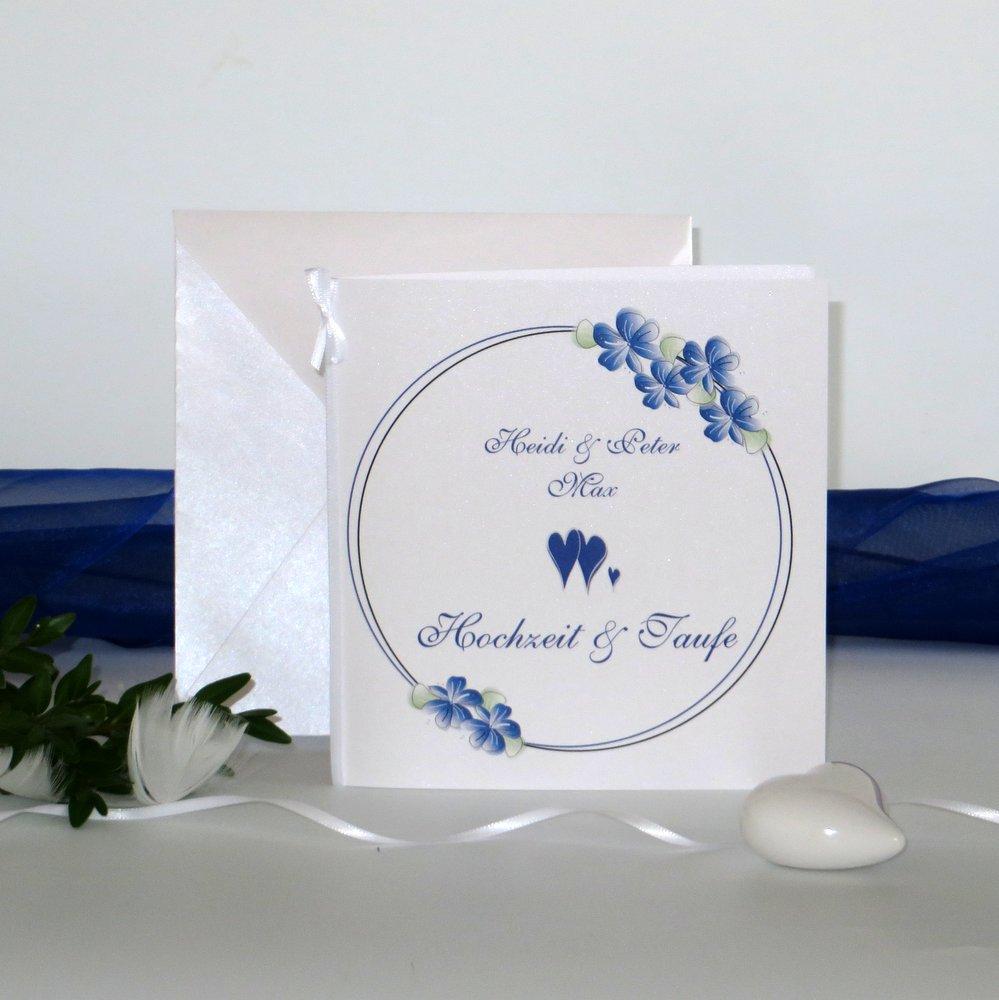 Blumenkranz blau Traufe
