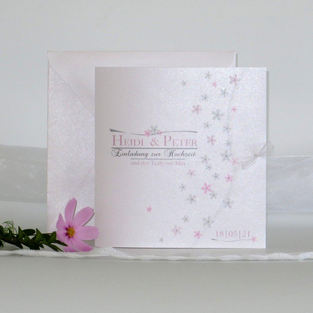 Blumenmeer rosa Traufe