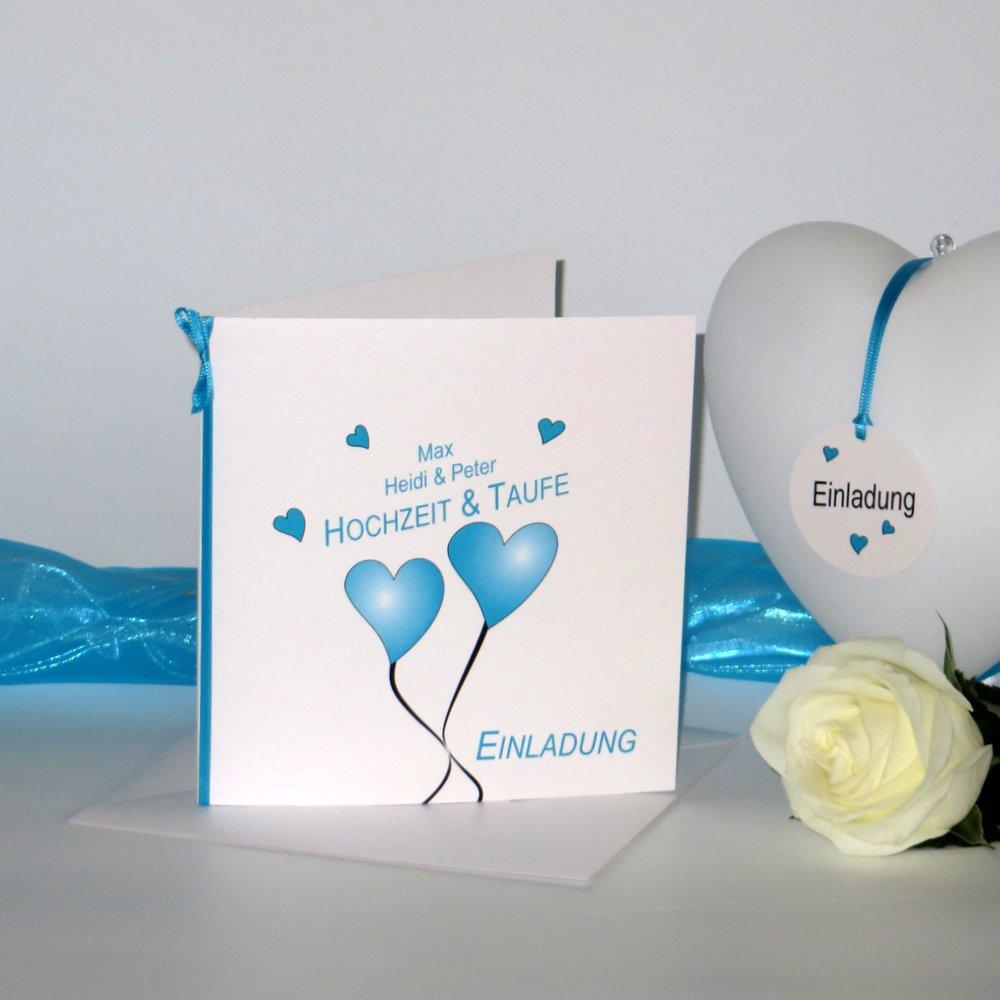 Herzballons türkis Traufe