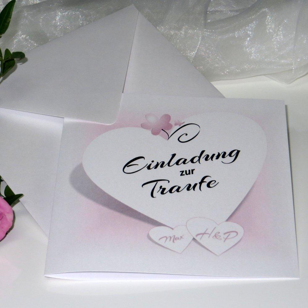 Herzkarte rosa Traufe
