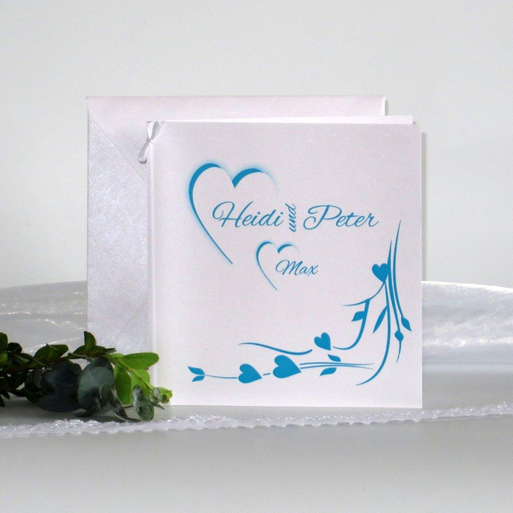 Hochzeitsherz türkis - Traufe