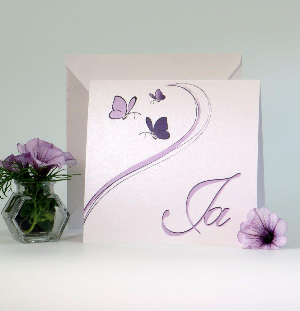 Schmetterlinge lila & flieder