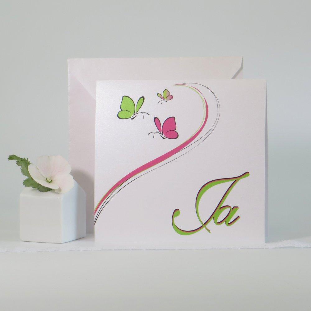 Schmetterlinge pink und grün
