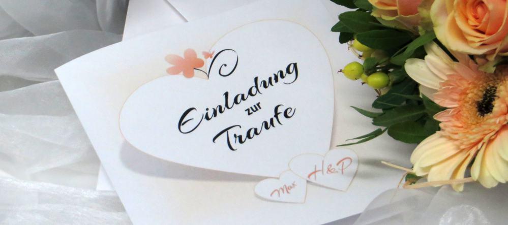 Einladungen, Karten und Deko für die Hochzeit mit Taufe