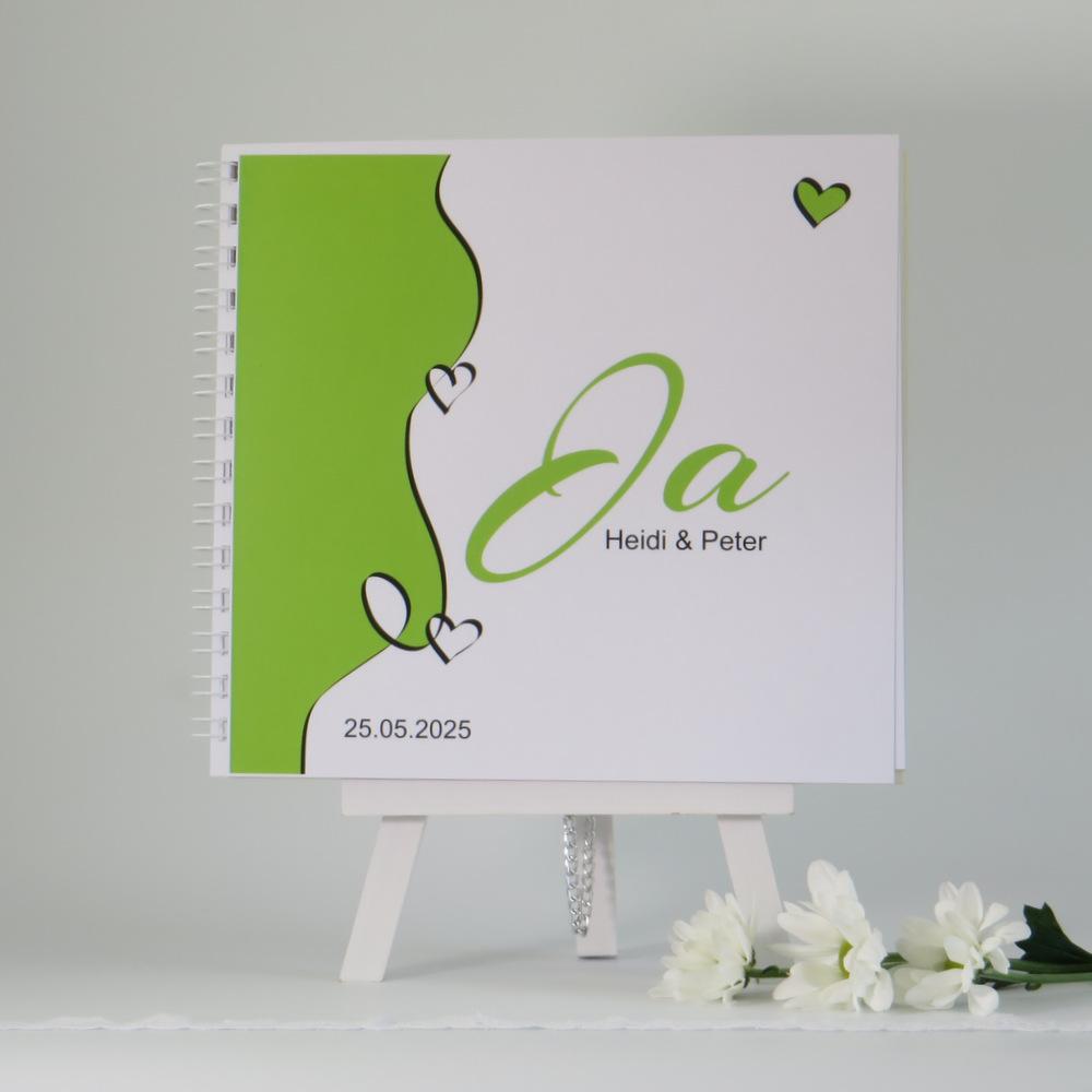 """Gästebuch """"Designline"""" in grün"""