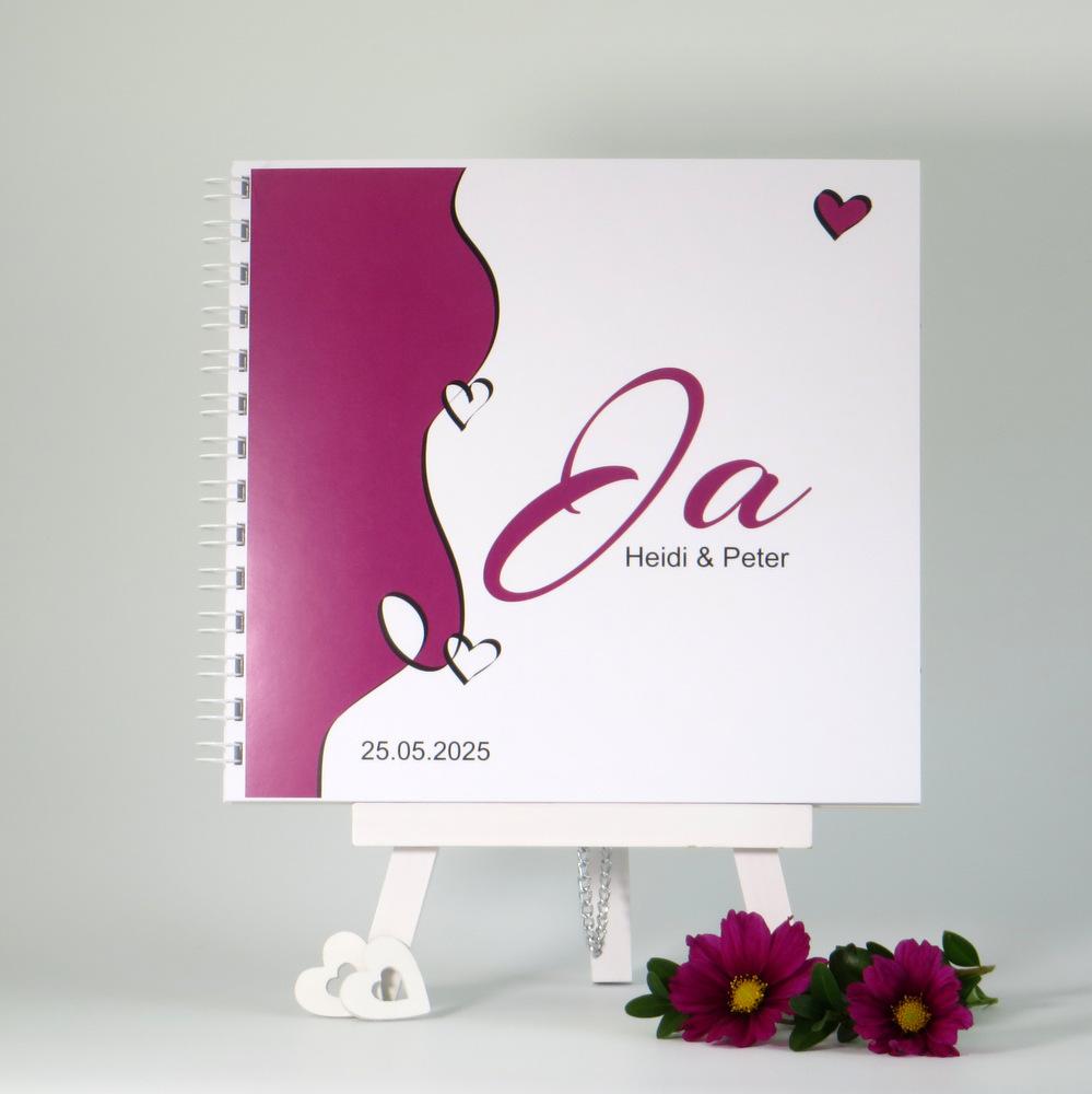 """Gästebuch """"Designline"""" in pink"""
