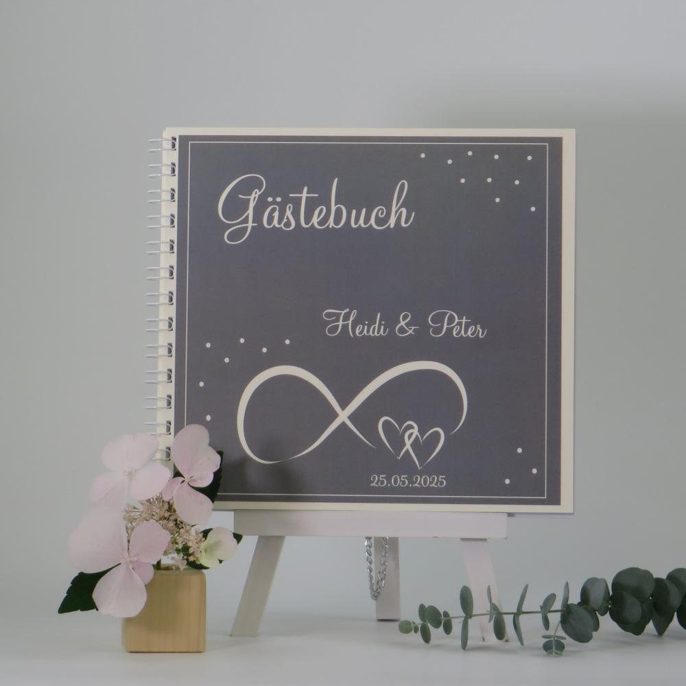 """Gästebuch """"Unendlich"""" taupe & creme"""