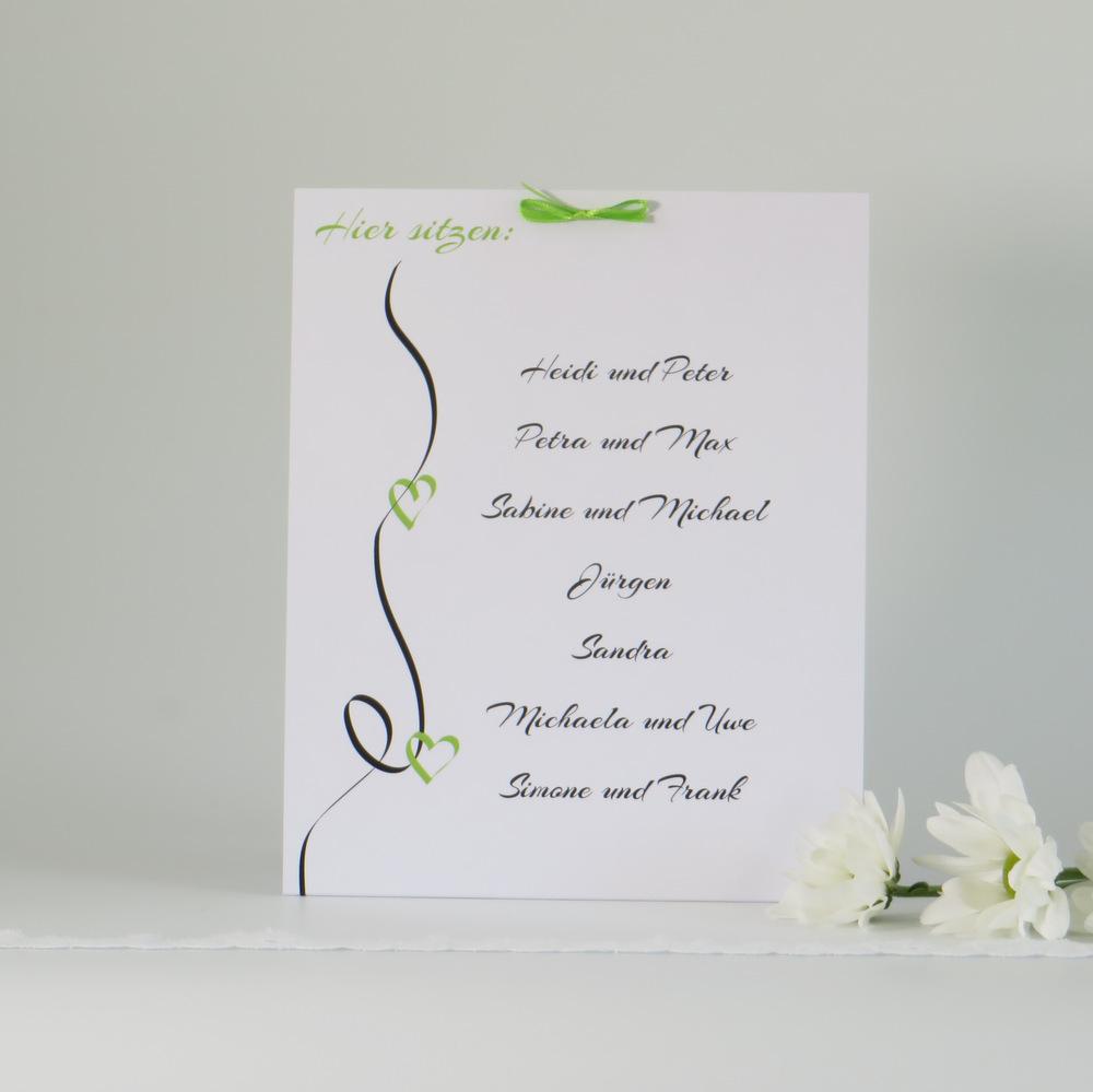 """Gruppentischkarte """"Designline"""" grün"""