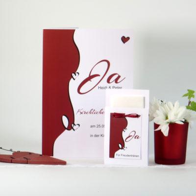 Kirchenheft für die Hochzeit Designline in rot