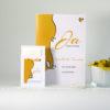"""Kirchenheft für die Hochzeit """"Designline"""" gelb"""