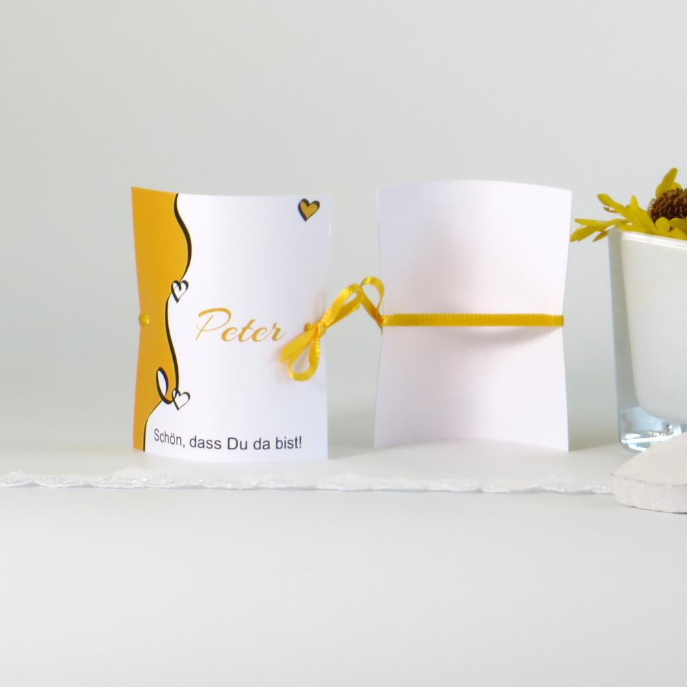 """Tischkarte """"Designline"""" gelb"""