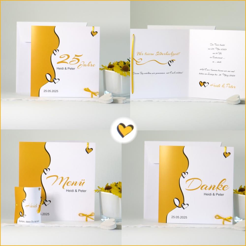 Designline gelb Silberhochzeit