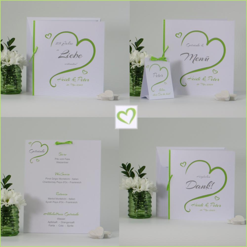 In Love grün Silberhochzeit