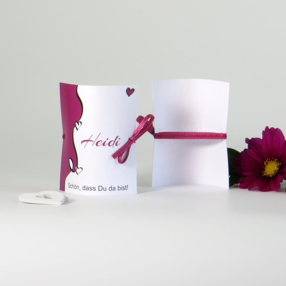 """Tischkarte """"Designline"""" in pink"""