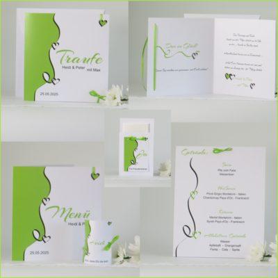 Kartenset für die Traufe Designline in grün