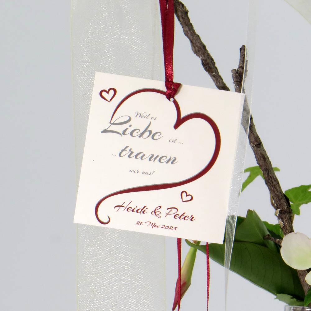 "Autoschleife ""In Love"" bordeaux"