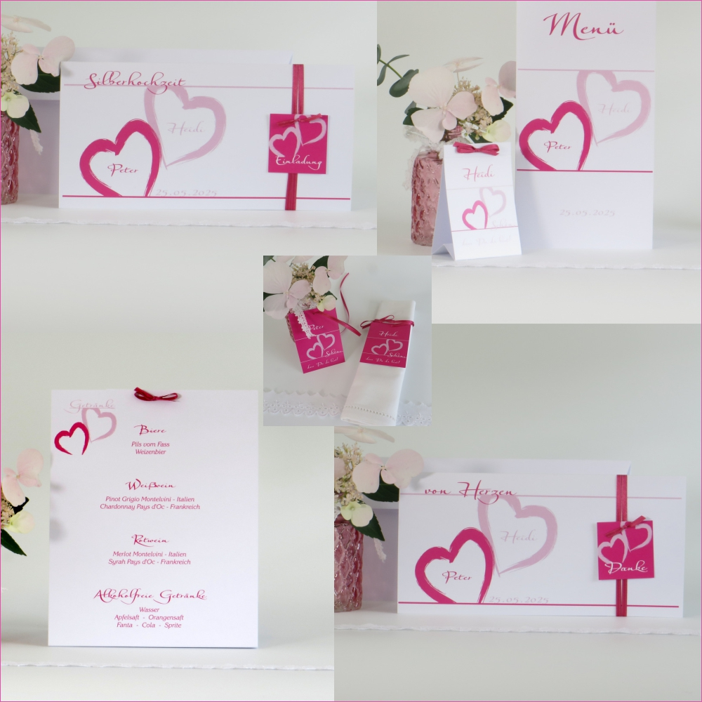 Unser Traum pink & rosa Silberhochzeit