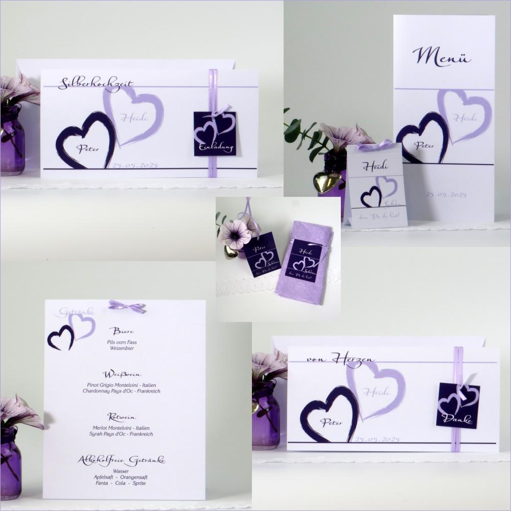 Unser Traum lila & flieder Silberhochzeit